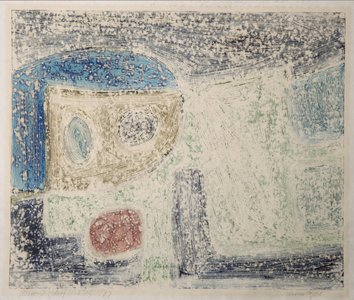 Gerard Schäperkötter - Nostalgie - 58,5 x 69 cm - Monotype op dun papier