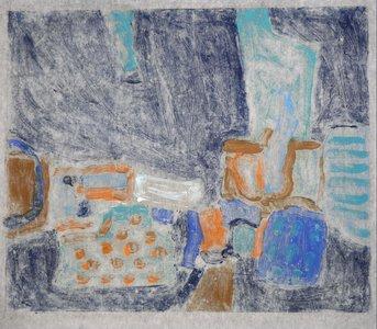 Gerard Schäperkötter - zonder titel - 60 x 65,5 cm - Monotype op rijstpapier