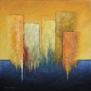 Silvo Boschman - Zonder titel - 80 x 80 cm - Gemengde techniek op doek