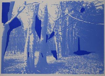 Dick Donker - Zonder titel - 83 x 113 cm - Zeefdruk op papier - in houten lijst