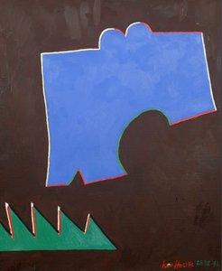 Jan van Holthe - Triptyque C. - 65,5 x 54 cm - Olieverf op doek