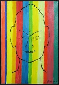 Jan van Holthe - Zonder titel - 54,5 x 38 cm - olieverf op doek