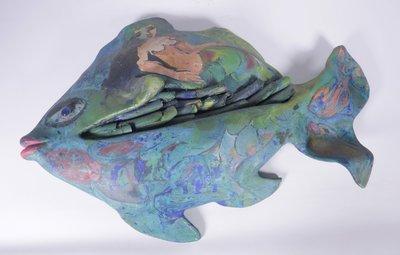 Franca Muller Jabusch - VIS - 12,5 x 58,5 x 43,5 cm - Gips beeld